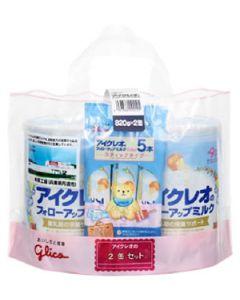 グリコ アイクレオ アイクレオのフォローアップミルク 9ヶ月頃から (820g×2缶セット) スティックタイプ5本付き 粉ミルク ※軽減税率対象商品