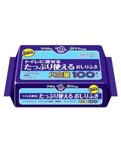 日本製紙 クレシア アクティ トイレに流せる たっぷり使えるおしりふき (100枚)
