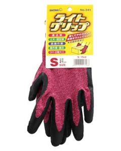 ショーワグローブ No.341 ライトグリップ レッド Sサイズ (1双) 手袋