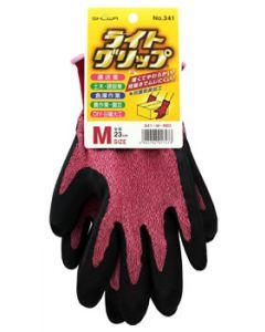 ショーワグローブ No.341 ライトグリップ レッド Mサイズ (1双) 手袋