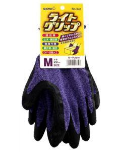 ショーワグローブ No.341 ライトグリップ パープル Mサイズ (1双) 手袋