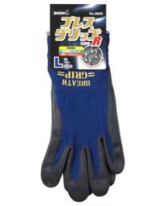 ショーワグローブ No.380R ブレスグリップ type-R ネイビー Lサイズ (1双) 手袋