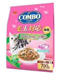 日本ペットフード コンボ キャット 毛玉対応 かつお味・かつおチップ・小魚添え (700g) キャットフード