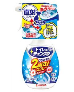 金鳥 KINCHO キンチョウ トイレ用ティンクル 直射・泡 2wayスプレー 本体 フローラルの香り (300mL)