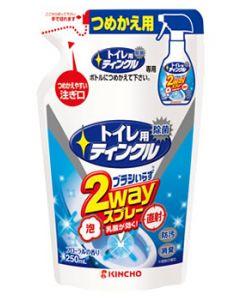 金鳥 KINCHO キンチョウ トイレ用ティンクル 直射・泡 2wayスプレー フローラルの香り つめかえ用 (250mL) 詰め替え用