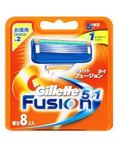 P&G ジレット フュージョン 5+1 替刃 (8個入) カミソリ 髭剃り 【P&G】