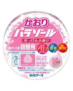 白元アース 洋服ダンス用 かおりパラゾール せっけんの香り 詰替用 (120g) 防虫剤