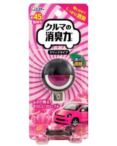 エステー クルマの消臭力 クリップタイプ フローラル (3.2mL) 車用 消臭・芳香剤