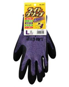 ショーワグローブ No.341 ライトグリップ パープル Lサイズ (1双) 手袋