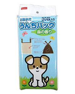 ペットライブラリー イヌネル お散歩用 うんちパック 森の香り (30枚) フン処理袋