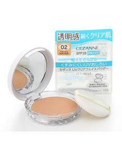 セザンヌ化粧品 UVクリアフェイスパウダー 02 ナチュラル 自然な肌色 SPF28 PA+++ (10g) プレストパウダー