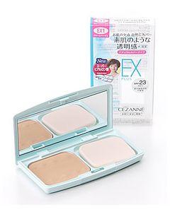 セザンヌ化粧品 UVファンデーション EXプラス EX1 クリームベージュ SPF23 PA++ (11g) パウダーファンデーション