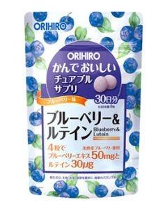 オリヒロ かんでおいしいチュアブルサプリ ブルーベリー&ルテイン 30日分 (120粒) サプリメント ※軽減税率対象商品