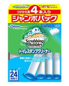ジョンソン スクラビングバブル トイレスタンプクリーナー フレッシュソープの香り ジャンボパック つけかえ用 (38g×4本) 付け替え用
