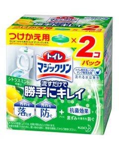 花王 トイレマジックリン 流すだけで勝手にキレイ シトラスミントの香り つけかえ用 (80g) 付け替え用 トイレ用洗剤