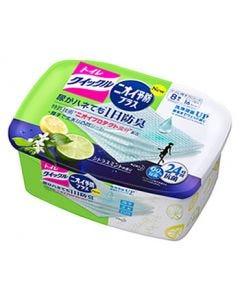 花王 トイレクイックル ニオイ予防プラス シトラスミントの香り 本体 (8枚入) トイレ用そうじシート