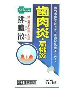 【第2類医薬品】メディズワン ジェーピーエス製薬 排膿散エキス錠J (63錠) 歯肉炎 扁桃炎