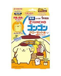 【◆】 金鳥 KINCHO キンチョウ ゴンゴン ポムポムプリン クローゼット用 1年防虫 無臭タイプ (2個入)