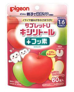 ピジョン 親子で乳歯ケア タブレットU キシリトール プラスフッ素 もぎたてりんごミックス味 1才6ヶ月頃から (60粒) ※軽減税率対象商品
