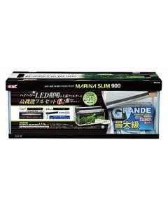 ジェックス マリーナスリム900 LEDセット (1セット) 水槽セット 上部式フィルター 観賞魚用品