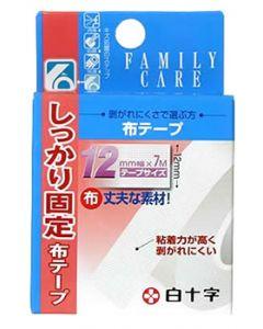 白十字 ファミリーケア FC 布テープ 12mm×7m (1個)