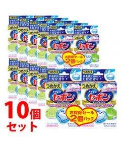 《セット販売》 アース製薬 セボン タンクにおくだけ フレッシュソープ&ムスク つめかえ用 (2個パック)×10個セット 詰め替え用