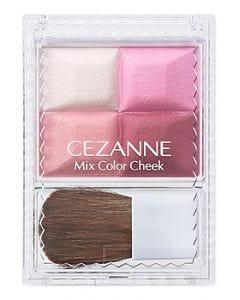 セザンヌ化粧品 ミックスカラーチーク 04 ローズ系 (1個) パウダーチーク