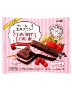 アサヒ クリーム玄米ブラン 苺のブラウニー (1枚×2袋) カルシウム 鉄 栄養機能食品 ※軽減税率対象商品