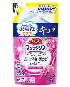 花王 バスマジックリン 泡立ちスプレー スーパークリーン アロマローズの香り つめかえ用 (330mL) 詰め替え用 マジックリン 浴室用洗剤