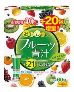 ユーワ おいしいフルーツ青汁 (3g×60包) 青汁 乳酸菌 ※軽減税率対象商品