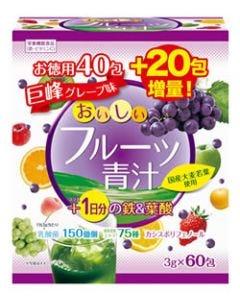 ユーワ おいしいフルーツ青汁 1日分の鉄&葉酸 (3g×60包) 青汁 乳酸菌 ※軽減税率対象商品