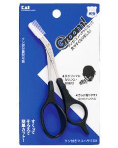 貝印 Groom グルーム クシ付き マユハサミDX (1個) メンズ 男性用 眉カット HC3013