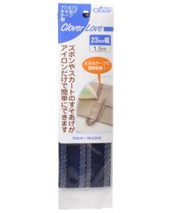 クロバー クロバーラブ すそあげテープ 紺 23mm幅 77-573 (1.5m巻) 手芸 裁縫用品
