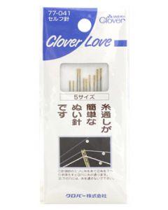 クロバー クロバーラブ CL セルフ針 5サイズ 77-041 (10本) 手芸 裁縫用品