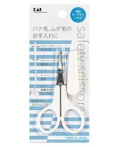 貝印 薄刃セーフティハサミ KQ3105 (1個) 鼻毛カット はさみ