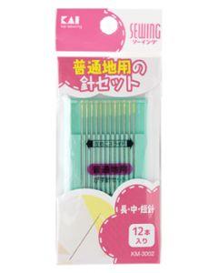 貝印 KM3002 がす針セット 普通地用 (12本) ソーイング 手芸 裁縫用品