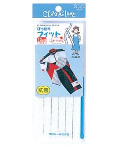 クロバー クロバーラブ メリークロバー 強力ゴムL 10コール 67-763 (10mm幅×8m巻) ゴム紐