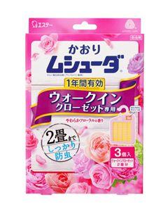 エステー かおりムシューダ 1年間有効 ウォークインクローゼット専用 やわらかフローラルの香り (3個) 防虫剤
