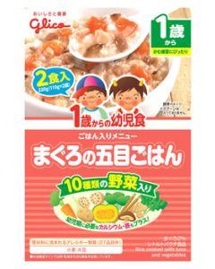 グリコ アイクレオ 1歳からの幼児食 まぐろの五目ごはん 2食入 (110g×2袋) ベビーフード ※軽減税率対象商品