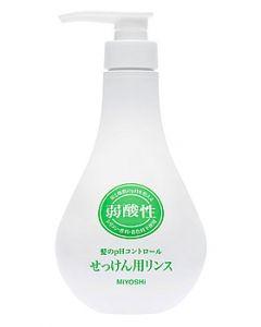 ミヨシ石鹸 弱酸性 せっけん用リンス (500mL) リンス
