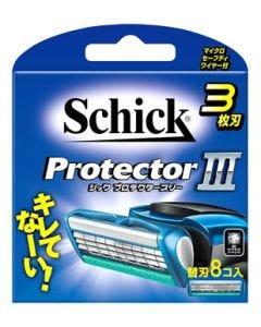 シック プロテクタースリー 替刃 (8個) カミソリ 髭剃り 3枚刃