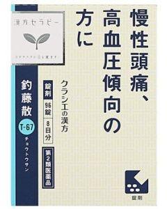 【第2類医薬品】クラシエ薬品 JPS釣藤散料エキス錠N 8日分 (96錠) チョウトウサン