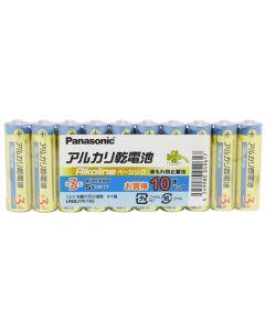 くらしリズム パナソニック アルカリ乾電池 単3形 LR6BJTR/10S (10本パック) 電池 単三形