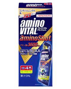 味の素 アミノバイタル アミノショット (43g×4本) AMINO VITAL ゼリータイプ アミノ酸3600mg ※軽減税率対象商品