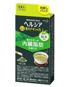 花王 ヘルシア 茶カテキンの力 緑茶風味 お試しパック (3.0g×6本) 粉末飲料 機能性表示食品 ※軽減税率対象商品