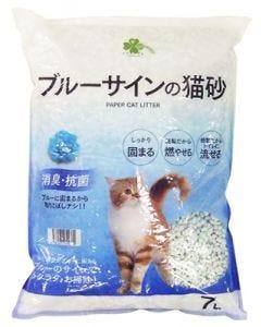 くらしリズム ブルーサインの猫砂 (7L) 紙砂 猫砂 燃やせる トイレに流せる