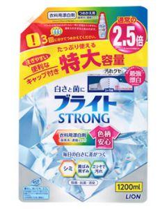 【特売セール】 ライオン ブライト ストロング STRONG 特大 つめかえ用 (1200mL) 詰め替え用 衣料用漂白剤