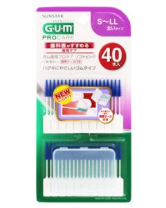 サンスター GUM ガム 歯周プロケア ソフトピック サイズS~LL 太いタイプ (40本入) 歯間ブラシ