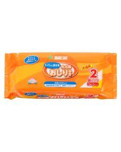 オレンジケア 流せるおしりふき (72枚×2個パック) 介護用 排泄ケア