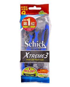 くらしリズム シック エクストリーム3 首振り式3枚刃カミソリ (9本) 髭剃り シェービング Schick